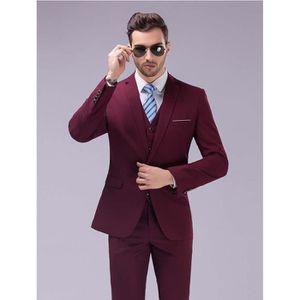 costume homme bordeaux achat vente costume homme bordeaux pas cher cdiscount. Black Bedroom Furniture Sets. Home Design Ideas