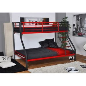 lit superpos mezzanine achat vente lit superpos mezzanine pas cher soldes d hiver. Black Bedroom Furniture Sets. Home Design Ideas