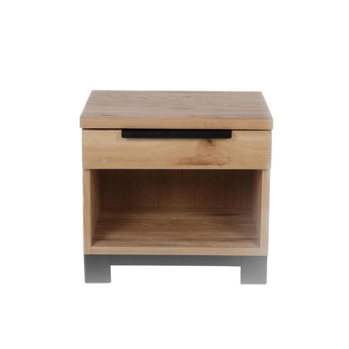 table de nuit bali en ch ne massif achat vente chevet table de nuit bali en ch ne cdiscount. Black Bedroom Furniture Sets. Home Design Ideas