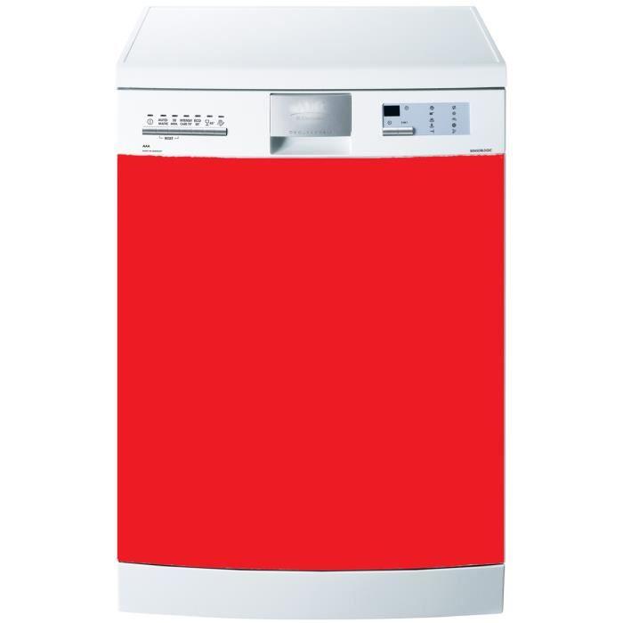stickers lave vaisselle uni couleur rouge 60x60 achat. Black Bedroom Furniture Sets. Home Design Ideas