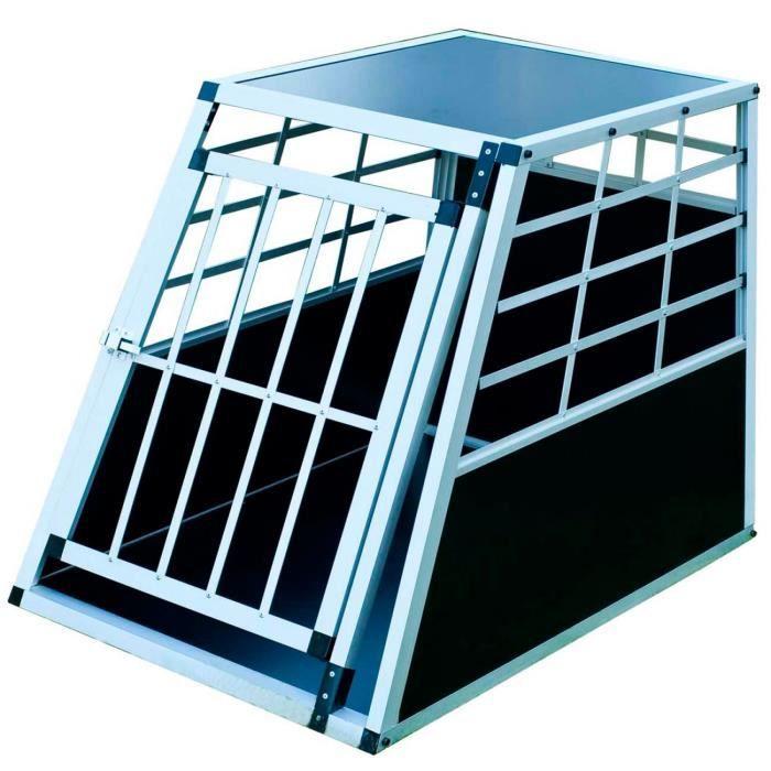 cage de transport pour chien caisse boite de transport mobile box aluminium 1 porte achat. Black Bedroom Furniture Sets. Home Design Ideas
