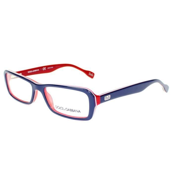 lunettes de vue dolce gabbana dd1225 1872 bleu rouge bleu rouge achat vente lunettes. Black Bedroom Furniture Sets. Home Design Ideas