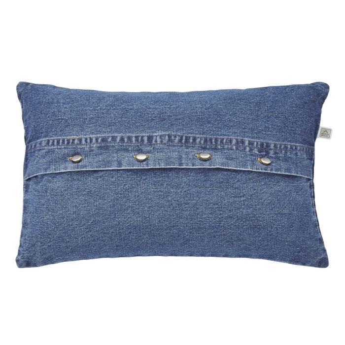 housse de coussin iggy 30x50 cm bleu achat vente housse de coussin cdiscount. Black Bedroom Furniture Sets. Home Design Ideas