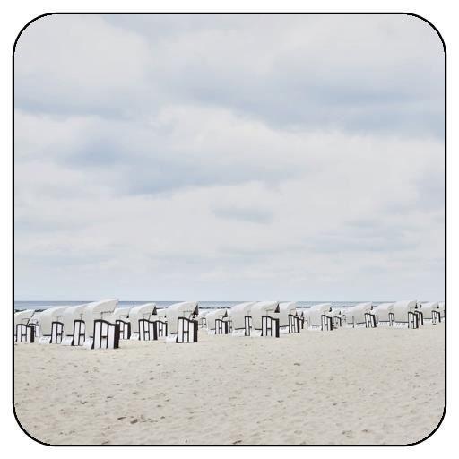 lot de 6 dessous de verre carr chaises de plage solitaires achat vente sous verre. Black Bedroom Furniture Sets. Home Design Ideas
