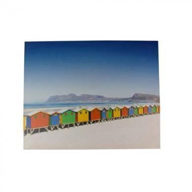 tableau cabanon sur la plage achat vente tableau toile cdiscount. Black Bedroom Furniture Sets. Home Design Ideas