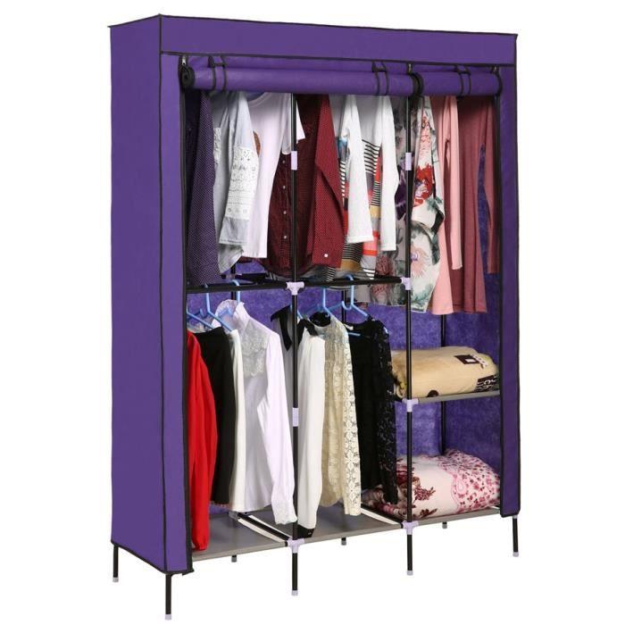 armoire penderie placard de rangement v tements tige double organisateur achat vente. Black Bedroom Furniture Sets. Home Design Ideas