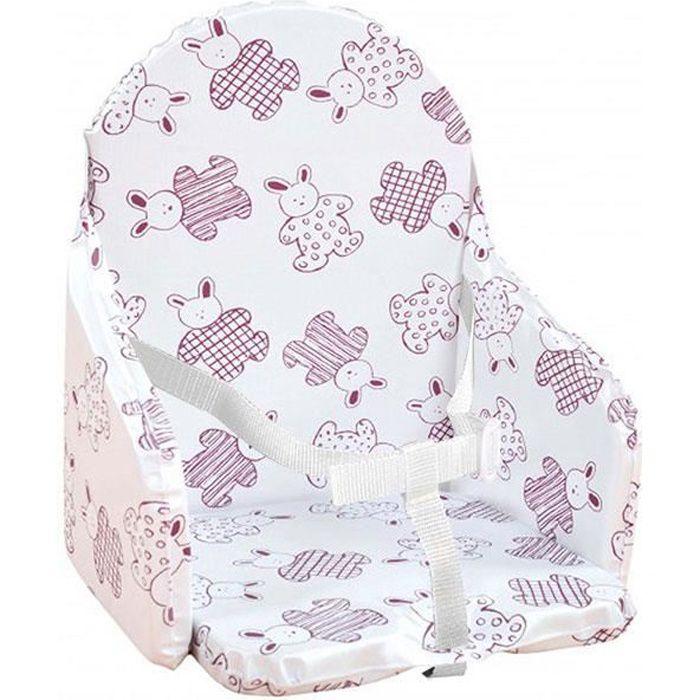 coussin de chaise avec sangle lapin cassis violet achat vente chaise haute 3159059048796. Black Bedroom Furniture Sets. Home Design Ideas