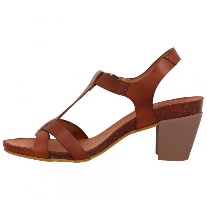 sandales talons kickers pietra cuir femme 41 camel marron marron achat vente sandale nu. Black Bedroom Furniture Sets. Home Design Ideas