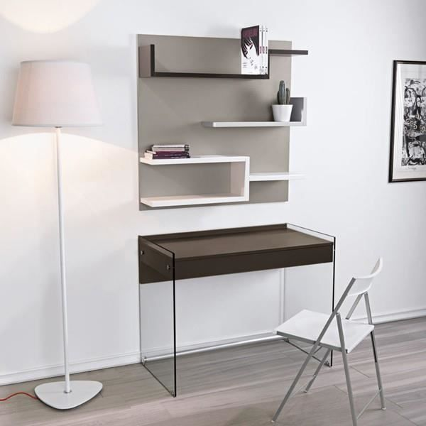 bureau multim dia alpha verre et bois chocolat achat vente bureau bureau multim dia alpha. Black Bedroom Furniture Sets. Home Design Ideas
