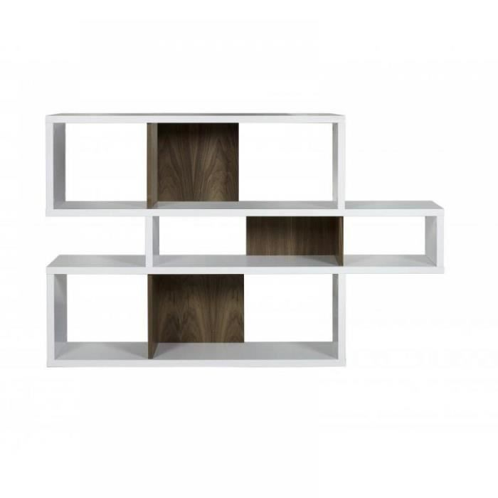 temahome london bibliotheque design blanc compa achat. Black Bedroom Furniture Sets. Home Design Ideas