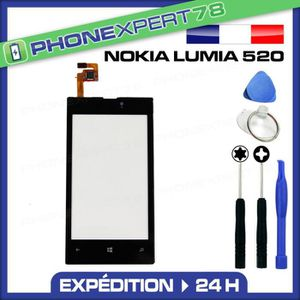 ECRAN DE TÉLÉPHONE Vitre écran tactile Nokia lumia 520 noir + outils