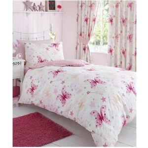 tour de lit papillon achat vente tour de lit papillon pas cher cdiscount. Black Bedroom Furniture Sets. Home Design Ideas