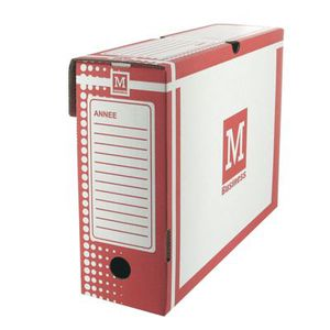 Boîte à archive Boite archive 34x 25 dos 10cm rouge - Paquet de 25