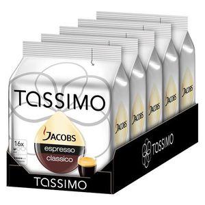 CAFÉ - CHICORÉE Tassimo Jacobs Espresso Classico 16 dosettes x 5 p