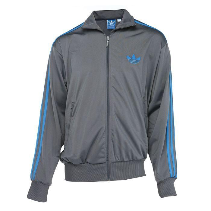 adidas veste firebird homme gris et bleu achat vente veste adidas veste firebird homme. Black Bedroom Furniture Sets. Home Design Ideas