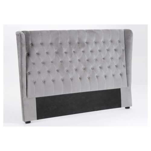 T te de lit 160 gris velours amadeus achat vente t te de lit cdiscount - Tete de lit sans fixation ...
