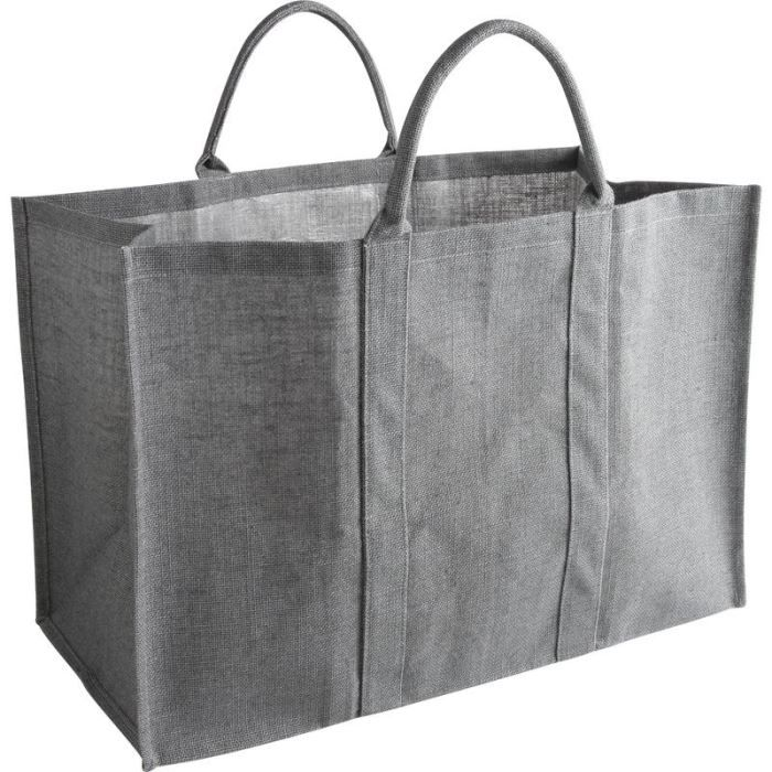 sac b ches en jute naturelle gris 60x30x40cm achat. Black Bedroom Furniture Sets. Home Design Ideas