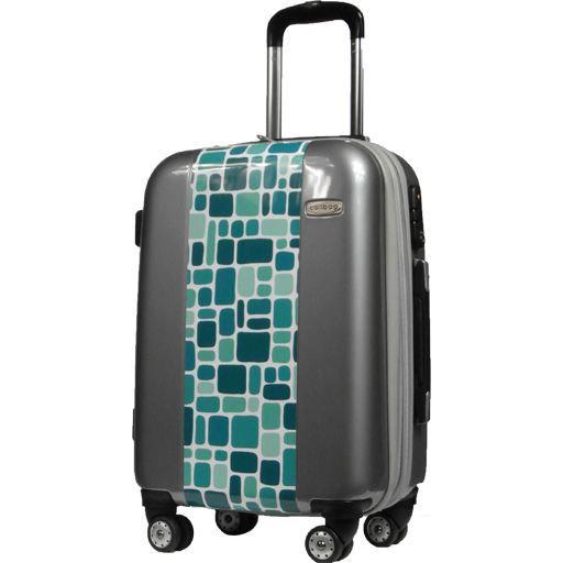 calibag valise cabine carreaux bleus achat vente. Black Bedroom Furniture Sets. Home Design Ideas