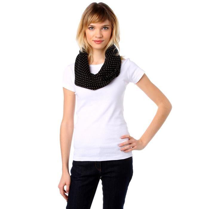 tour de cou femme noir noir achat vente echarpe foulard 2009974312797 cdiscount. Black Bedroom Furniture Sets. Home Design Ideas