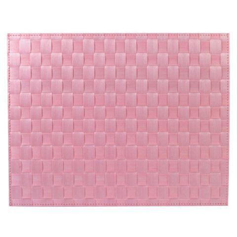 Set de table rectangulaire rose for Set de table rectangulaire