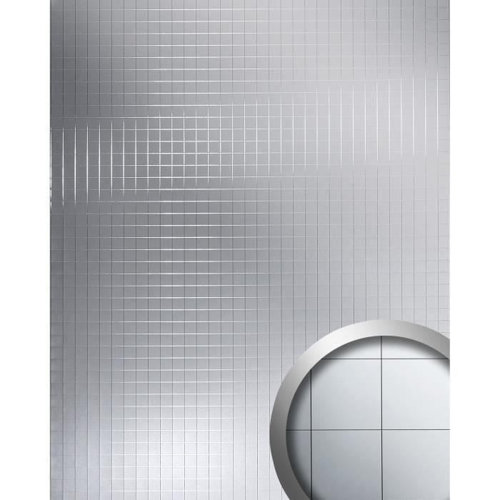 m style rev tement mural panneau mural autoadh sif wallface 14279 mosaique sp culaire argent 2. Black Bedroom Furniture Sets. Home Design Ideas