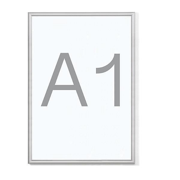 cadre pliant b1 profil en aluminium lot de 2 pour format a1 cadre porte affiches cadre. Black Bedroom Furniture Sets. Home Design Ideas