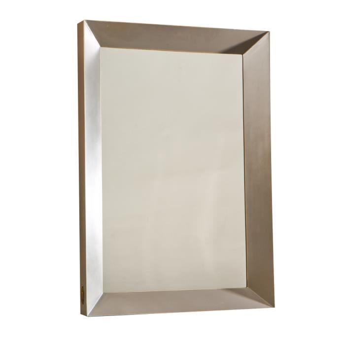 Miroir avec encadrement taupe collection charme achat for Collection miroir