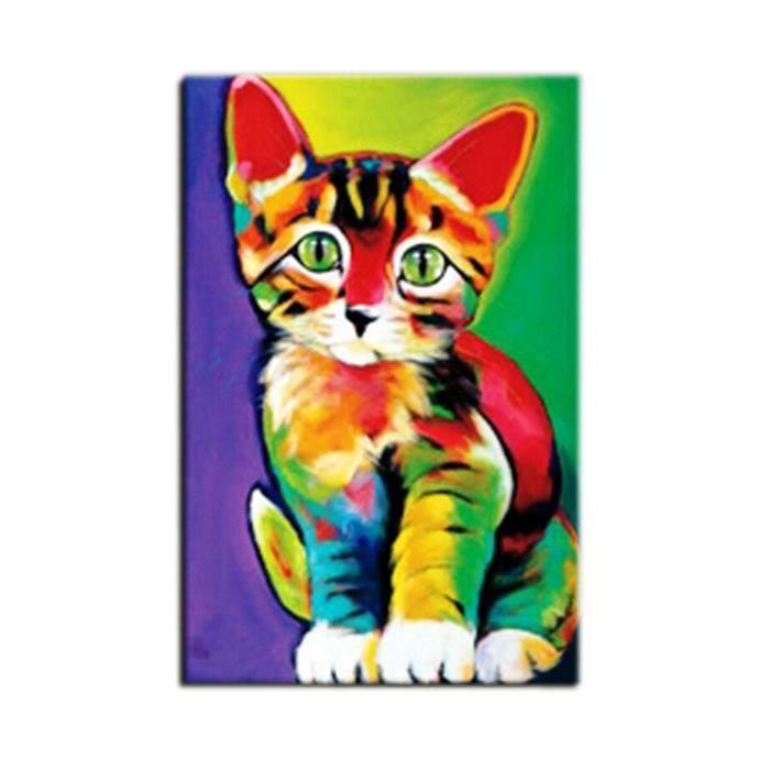 tableau chat chaton peinture huile sur toile fait main art contemporain achat vente tableau. Black Bedroom Furniture Sets. Home Design Ideas