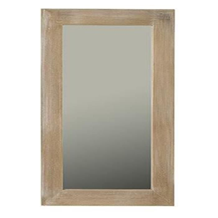 Miroir rectangulaire en paulownia 60 x 2 x 120 cm achat for O miroir la rochelle