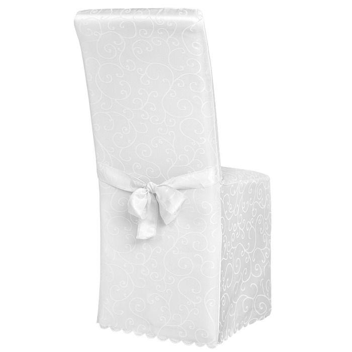 housse de chaise avec noeud achat vente housse de chaise avec noeud pas cher cdiscount. Black Bedroom Furniture Sets. Home Design Ideas
