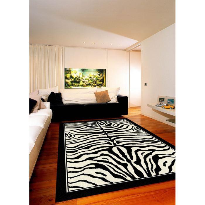 tapis salon vegas noir cr me z bre universol achat. Black Bedroom Furniture Sets. Home Design Ideas