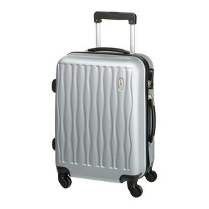 CASINO Valise trolley ABS - 55cm - 4 roues - Gris