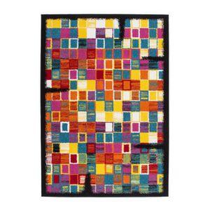 Tapis salon multicolor achat vente tapis salon multicolor pas cher cdiscount - Tapis salon multicolore ...