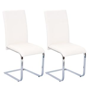 CHAISE Brooklyn - Lot 2 Chaises Blanches