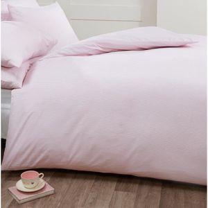 housse de couette rose 200x200 achat vente housse de couette rose 200x200 pas cher cdiscount. Black Bedroom Furniture Sets. Home Design Ideas
