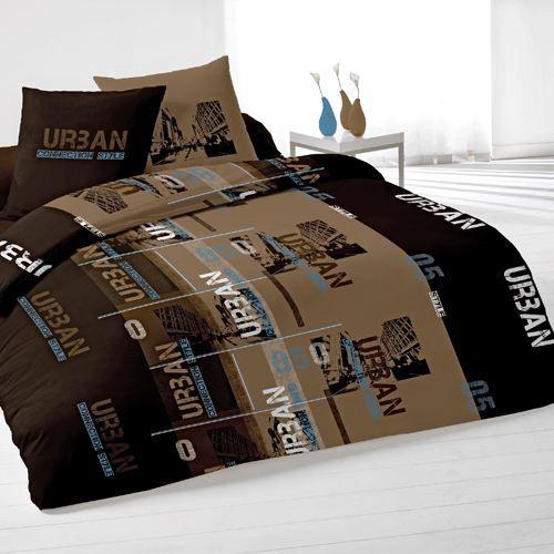 housse de couette deux taies connection chocolat achat vente parure de lit cdiscount. Black Bedroom Furniture Sets. Home Design Ideas