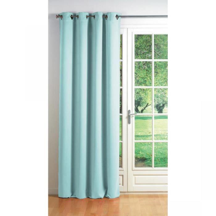 rideau occultant et isolant 140x260 cm cocoon bleu ciel achat vente rideau cdiscount. Black Bedroom Furniture Sets. Home Design Ideas