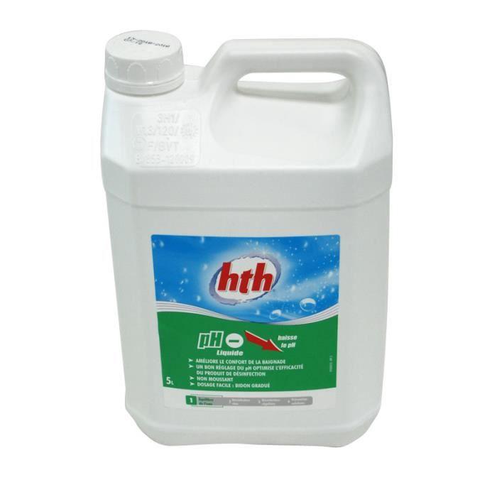 Hth ph moins liquide 5l achat vente traitement de l for Ph liquide piscine