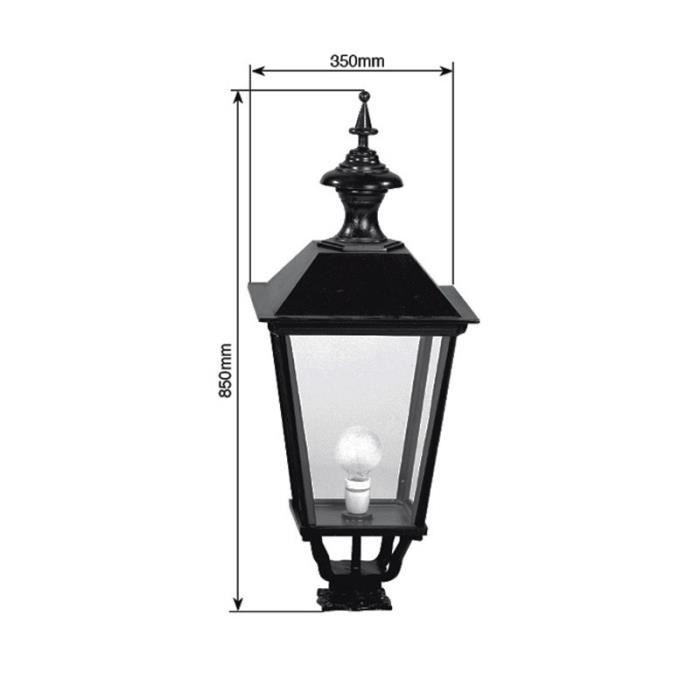 Luminaire ext rieur faubourg carr 85cm noir achat for Luminaire exterieur cube
