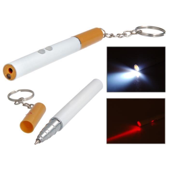 cigarette en forme de le de poche led multifonctions pointeur laser et stylo 224 bille