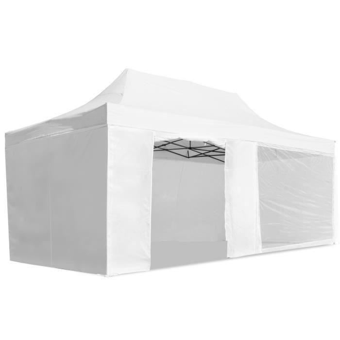 tonnelle de jardin tente pavillon de jardin tente de r ception 3x6 blanc achat vente. Black Bedroom Furniture Sets. Home Design Ideas