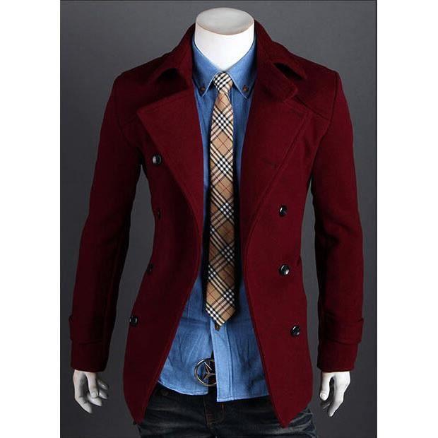 2015 nouveaut automne hiver manteau veste homme fashion. Black Bedroom Furniture Sets. Home Design Ideas