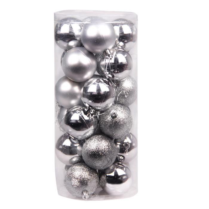 24 pi ces 6cm boule pour sapin noel guirlandes boule d co - Guirlande electrique pour sapin de noel ...