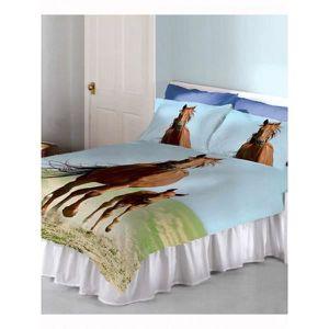 parure de lit 220x240 cheval achat vente parure de lit 220x240 cheval pas cher soldes. Black Bedroom Furniture Sets. Home Design Ideas