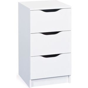 commode blanche 3 tiroirs