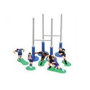 D cors g teaux 6 joueurs de rugby avec 3 poteaux achat for Poteaux de rugby pour jardin