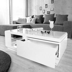 Table basse rectangulaire avec rangement achat vente - Table basse range bouteille ...