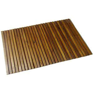 Tapis de salle de bain en bois achat vente tapis de - Tapis salle de bain bois ...
