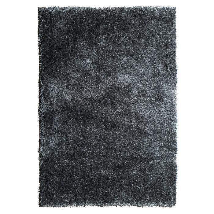 tapis de salon shaggy love noir 60x110 cm achat vente tapis 100 polyester soldes cdiscount. Black Bedroom Furniture Sets. Home Design Ideas