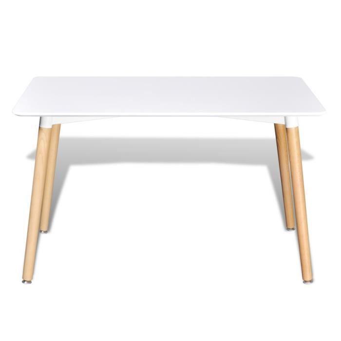 Tables de salle a manger et de cuisine table rectangulaire blanc mat achat - Cdiscount table de salle a manger ...